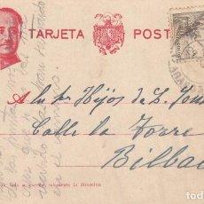 Sellos: TARJETA POSTAL: 1940 ZARAGOZA - BILBAO. Lote 151107230