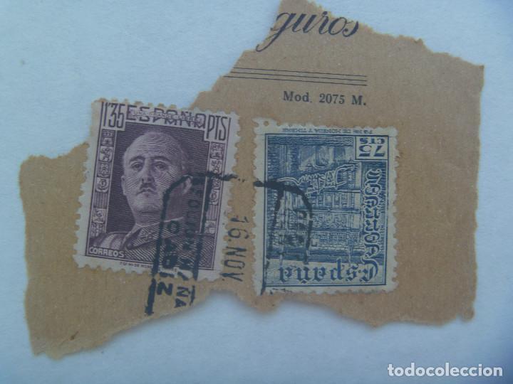 LOTE DE 2 SELLOS PEGADOS , FRANCO (Sellos - España - Estado Español - De 1.936 a 1.949 - Usados)