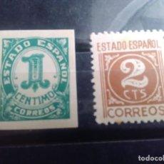 Sellos: EDIFIL 914 Y 915 DE LA SERIE: CIFRAS Y CID - AÑO 1940. Lote 151927094