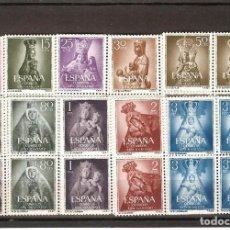 Sellos: SELLOS DE ESPAÑA AÑO 1954 AÑO MARIANO SELLOS NUEVOS EN BLOQUE DE 4. Lote 152011566