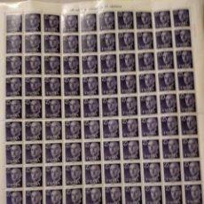 Briefmarken - sellos en pliego de 100 valor 25 centimos 1955 Serie básica. General Franco - 152038254
