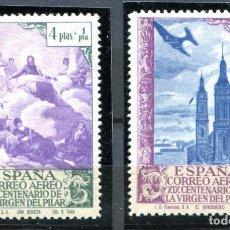 Sellos: EDIFIL 912 CC/913 CC. 4 Y 10 PTS PILAR AÉREOS, VARIEDAD DE COLOR. NUEVOS SIN FIJASELLOS. . Lote 153554198