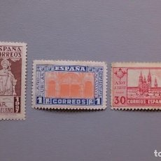 Sellos: ESPAÑA - 1937 - ESTADO ESPAÑOL - EDIFIL 833/835 - SERIE COMPLETA - MH* - NUEVOS - AÑO COMPOSTELANO.. Lote 153562866