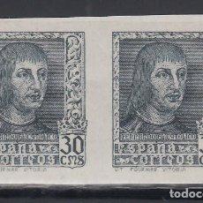 Sellos: ESPAÑA, 1938 EDIFIL Nº 844ECB /**/, CAMBIO DE COLOR. PIZARRA, . Lote 153579630