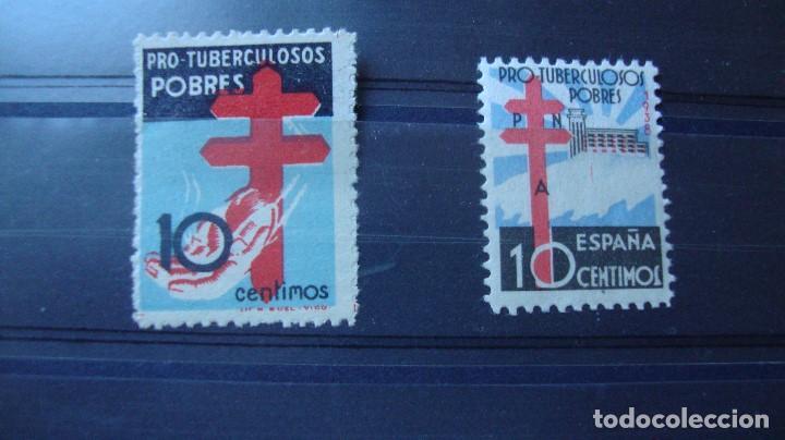 ESPAÑA EDIFIL 840 Y 866 PROTUERCULOSOS NUEVOS LIGERA SEÑAL CHARNELA. VER FOTOS (Sellos - España - Estado Español - De 1.936 a 1.949 - Nuevos)