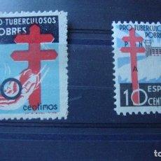 Sellos: ESPAÑA EDIFIL 840 Y 866 PROTUERCULOSOS NUEVOS LIGERA SEÑAL CHARNELA. VER FOTOS. Lote 154294142