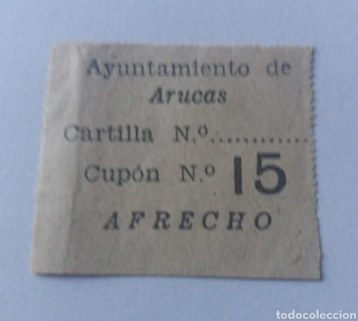 ARUCAS. CANARIAS. RACIONAMIENTO DE AFRECHO. CUPON (Sellos - España - Estado Español - De 1.936 a 1.949 - Nuevos)