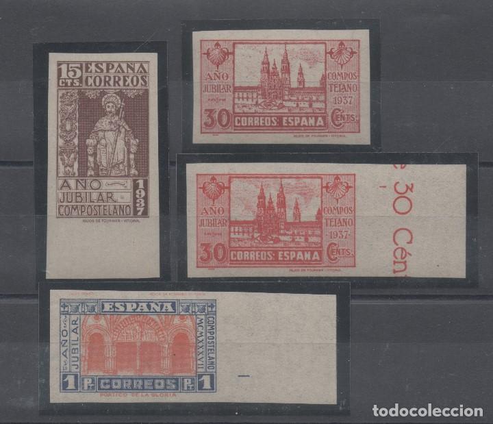ESPAÑA=Nº 833S/35S + 834AS_AÑO COMPOSTELANO SIN DENTAR_CATALOGO 310 EUROS_VER FOTOS (Sellos - España - Estado Español - De 1.936 a 1.949 - Nuevos)