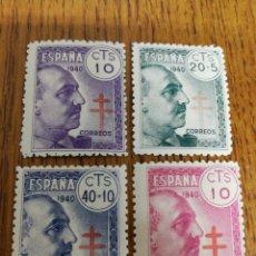 Sellos: ESPAÑA; 936/39 MNH, TUBERCULOSOS 1940. Lote 155777552