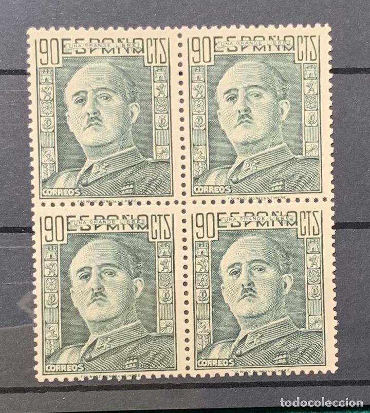 AÑO 1946. GENERAL FRANCO. Nº 1000. BLOQUE DE 4 (Sellos - España - Estado Español - De 1.936 a 1.949 - Nuevos)
