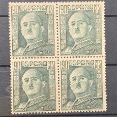 Sellos: AÑO 1946. GENERAL FRANCO. Nº 1000. BLOQUE DE 4. Lote 155862456