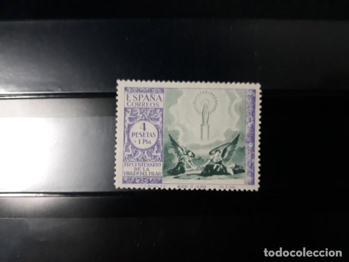 EDIFIL 901* ESPAÑA 1940 VIRGEN DEL PILAR. 4 +1 PTS. COLOR INVERTIDO. LEVE FIJASELLOS (Sellos - España - Estado Español - De 1.936 a 1.949 - Nuevos)