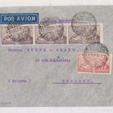 Sellos: SOBRE. DE JEREZ, CÁDIZ, A HOLANDA. 1946. CORREO AÉREO. Lote 156664250
