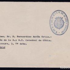 Sellos: CARTA CON MARCA DEL JEFE DE LA CASA CIVIL DEL JEFE DEL ESTADO EN AZUL. . Lote 156865374