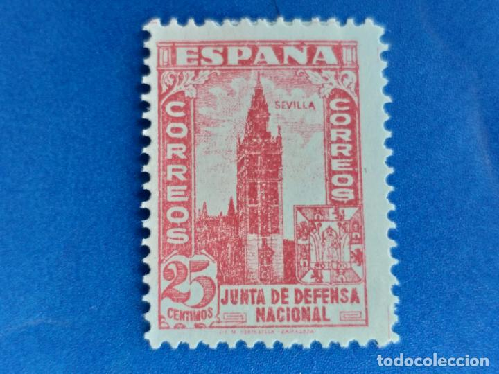 NUEVO *. AÑO 1936-1937. EDIFIL 807. JUNTA DE DEFENSA. FIJASELLO (Briefmarken - Spanien - Franco-Regime - Von 1936 bis 1949 - Neu)