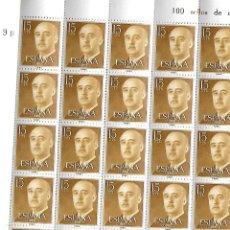 Briefmarken - Pliego de 100 sellos de Franco de 15 céntimos - 156947890