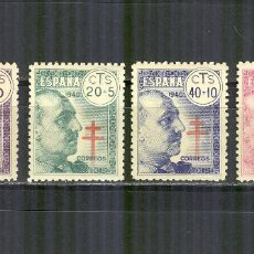 Sellos: 936/39 PRO TUBERCULOSOS FRANCO 1940 NUEVOS SIN CHARN.CENTRAJE LUJO. Lote 156972930
