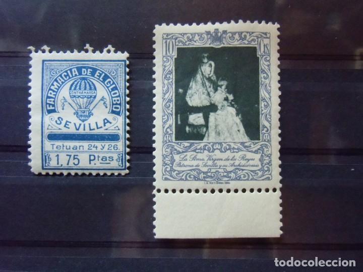 SEVILLA.DOS VIÑETAS DIFERENTES.VER RELACION Y FOTOS. (Briefmarken - Spanien - Franco-Regime - Von 1936 bis 1949 - Neu)