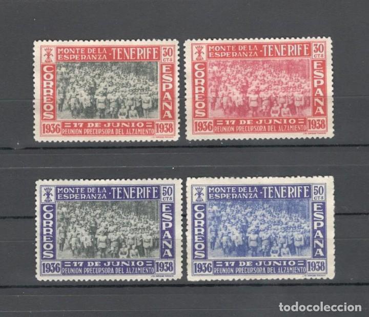 SELLOS CANARIAS: 2º ANIV REUNION PRECURSORA DEL ALZAMIENTO - MONTE DE LA ESPERANZA (TENERIFE) 1938 (Sellos - España - Estado Español - De 1.936 a 1.949 - Nuevos)