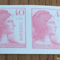 Briefmarken - ESPAÑA: N°751 PAREJA SIN DENTAR MNH. - 157750092