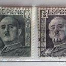 Sellos: ESPAÑA 1943, 2 SELLOS USADOS DE FRANCO . Lote 159002118