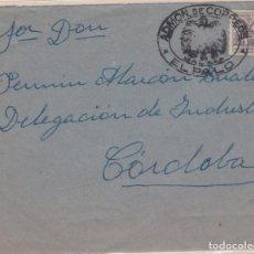 Sellos: CARTA DE EL PALO (MALAGA) A CORDOBA, CON MARCA DE FRANQUICIA DE CORREOS EL PALO.. Lote 159469430