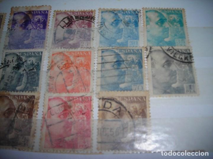 Sellos: LOTE DE 13 SELLOS CIRCULADOS DE FRANCO, TODOS DE DISTINTO VALOR FACIAL, AÑOS 1940 A 1945. - Foto 3 - 159791230