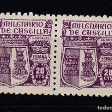 Sellos: 1944 EDIFIL 980** NUEVOS SIN CHARNELA. PAREJA. MILENARIO DE CASTILLA. Lote 160159342