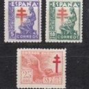 Sellos: 1946 EDIFIL 1008/10* NUEVOS CON CHARNELA PRO TUBERCULOSOS.. Lote 160718074