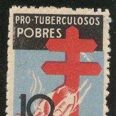 Sellos: ESPAÑA EDIFIL 840* MH 10 CÉNTIMOS MULTICOLOR PRO TUBERCULOSOS 1937 NL1587. Lote 161655566