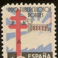 Sellos: ESPAÑA EDIFIL 866** MNH 10 CÉNTIMOS PRO TUBERCULOSOS 1938 NL381. Lote 162096598