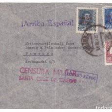 Sellos: F3-18- CARTA SANTA CRUZ TENERIFE- ALEMANIA 1938. CENSURA. BONITO FRANQUEO FERNANDO AÉREOS. Lote 162386406