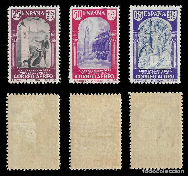 Sellos: 1940. XIX Cent. Venida Virgen del Pilar a Zaragoza. Serie completa. Nuevo*. Edif. 904-913 - Foto 2 - 162760562
