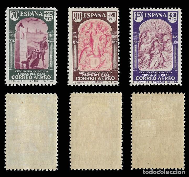 Sellos: 1940. XIX Cent. Venida Virgen del Pilar a Zaragoza. Serie completa. Nuevo*. Edif. 904-913 - Foto 3 - 162760562