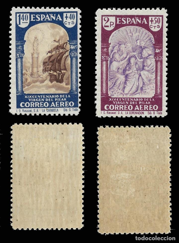 Sellos: 1940. XIX Cent. Venida Virgen del Pilar a Zaragoza. Serie completa. Nuevo*. Edif. 904-913 - Foto 4 - 162760562