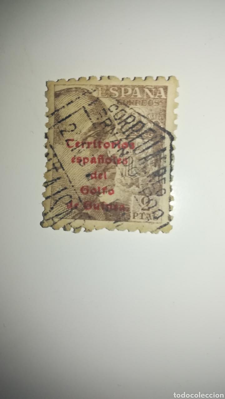 SELLO 2 PESETAS TERRITORIO ESPAÑOL DEL GOLFO DE GUINEA (Sellos - España - Estado Español - De 1.936 a 1.949 - Usados)