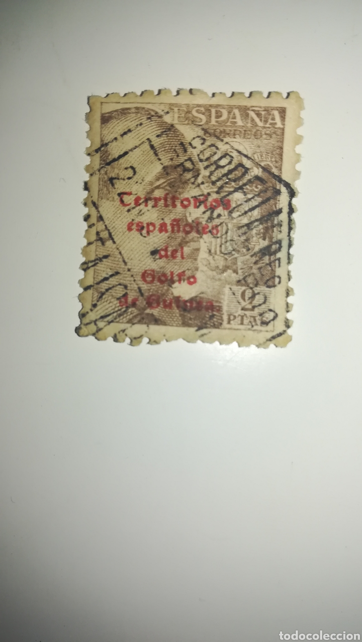 Sellos: Sello 2 pesetas Territorio español del Golfo de Guinea - Foto 2 - 163446334