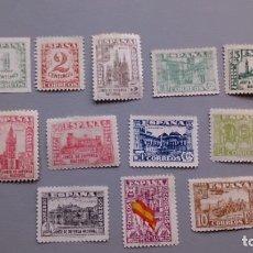 Sellos: ESPAÑA - 1936 - ESTADO ESPAÑOL - EDIFIL 802/813 - SERIE COMPLETA - MH* - NUEVOS.. Lote 163979786
