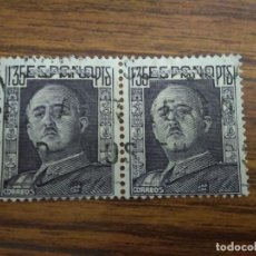 Sellos: EDIFIL 1061 PERFIL DE FRANCO 1,35 PTS. SELLOS USADOS EN PAREJA 1948-55. Lote 164809066
