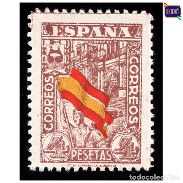ESPAÑA 1936-37. EDIFIL 812. JUNTA DE DEFENSA NACIONAL -SIN FIJASELLO- NUEVO** MNH (Sellos - España - Estado Español - De 1.936 a 1.949 - Nuevos)