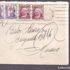 Sellos: F3-55- CARTA BARCELONA 1946. BONITO FRANQUEO GOYA Y TUBERCULOSOS. Lote 165802074