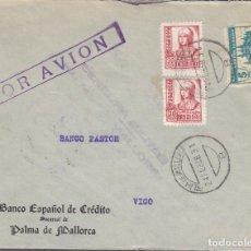 Sellos: F3-62-CARTA PALMA DE MALLORCA 1938. POR AVIÓN. CENSURA Y LOCAL. Lote 165802782