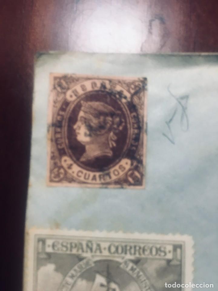 SOBRE CON 8 SELLOS VER FOTOS INTERESANTE (Sellos - España - Estado Español - De 1.936 a 1.949 - Cartas)