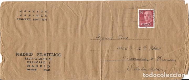 ESTADO ESPAÑOL. EDIFIL 1143. DE MADRID A EEUU. MADRID FILATELICO. (Sellos - España - Estado Español - De 1.936 a 1.949 - Cartas)