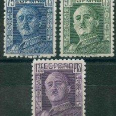 Sellos: ESPAÑA 1946-1947 - EDIFIL 999/1001 MH - GENERAL FRANCO. Lote 166747134