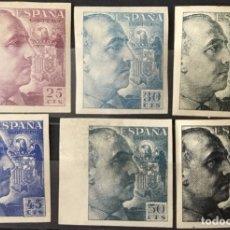 Sellos: 1940-45 FRANCO SIN DENTAR EDIFIL. 923S,924S, 925S,926S, 927S Y 930S VC:158,50 €. Lote 139261502