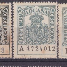 Selos: RR15- FISCALES ADUANA PERFUMERIA SEIES A, B Y C. NUEVOS. Lote 166821254