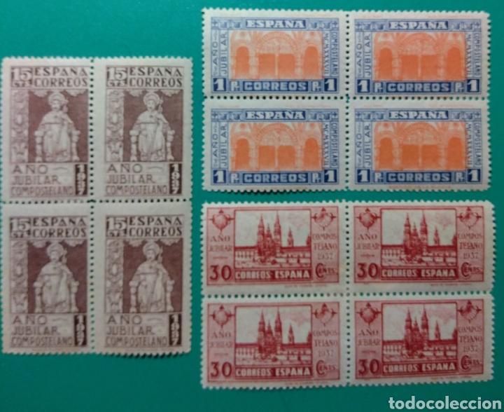 1937. BLOQUE DE 4. AÑO JUBILAR. ED. 833/835*. (Sellos - España - Estado Español - De 1.936 a 1.949 - Nuevos)
