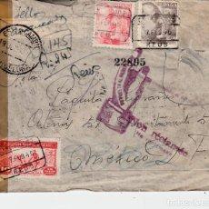 Sellos: CARTA DEL AÑO 1945 CON DESTINO MÉXICO DEVUELTA - INFINIDAD DE MATASELLOS AL DORSO-. Lote 167012716