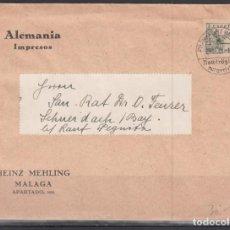 Sellos: MALAGA - ALEMANIA, SELLO EDIFIL Nº 817, MATASELLOS ALEMÁN ( FRANKFURT. NAIN ). Lote 167048368